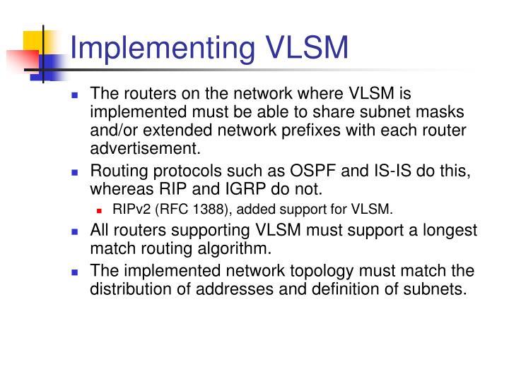 Implementing VLSM