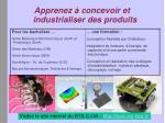 apprenez concevoir et industrialiser des produits