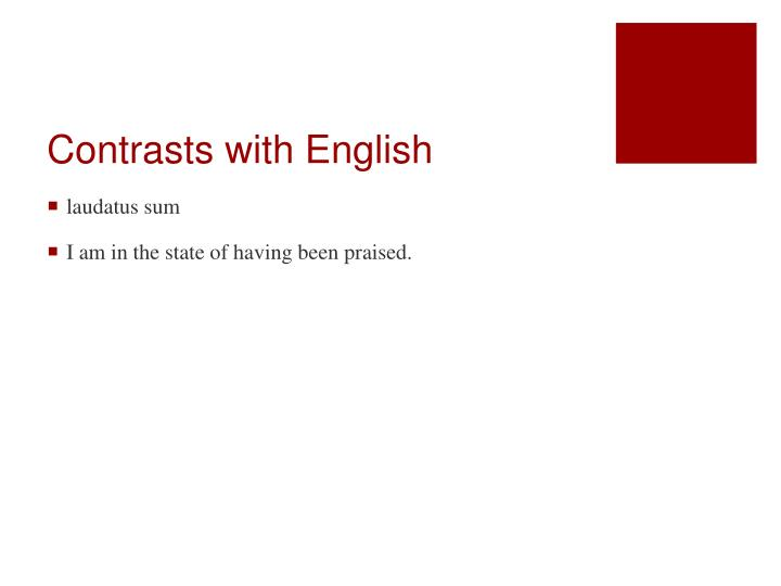 Contrasts with english