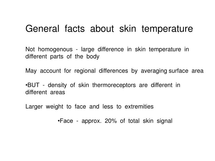 General  facts  about  skin  temperature