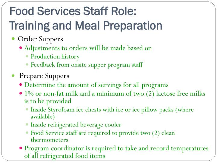 food preparation and service in school canteens Preparing and selling menu items as per the canteen menu for example: o making sandwiches and salads o toasting sandwiches o making up popcorn, jelly cups, veggie sticks and other snacks as required o heating and packing hot food o labelling and sorting lunch bags ▷ serving students, staff and.