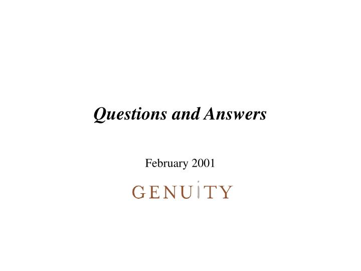 questions and answers n.