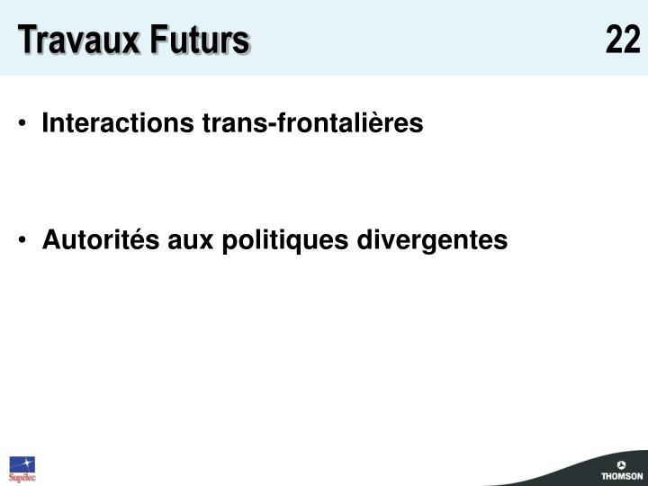 Travaux Futurs