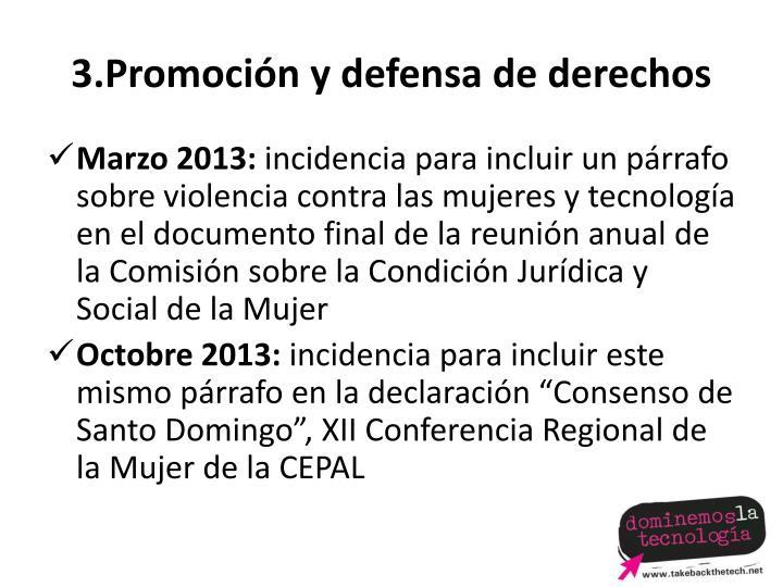 3.Promoción y defensa de derechos