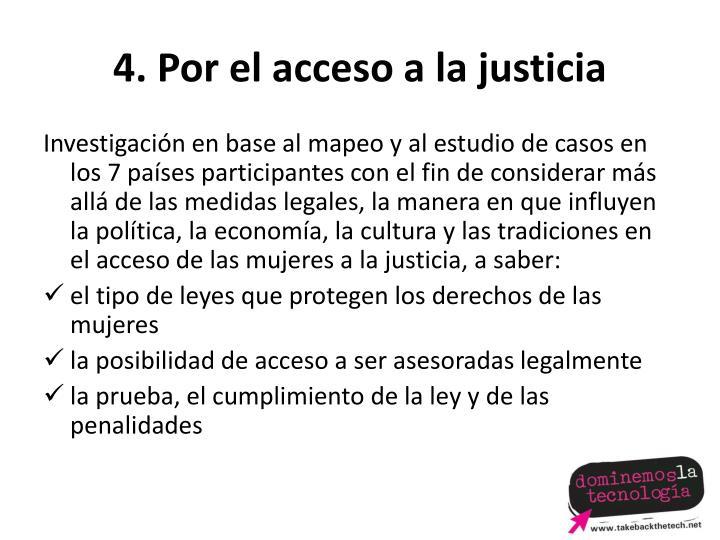 4. Por el acceso a la justicia