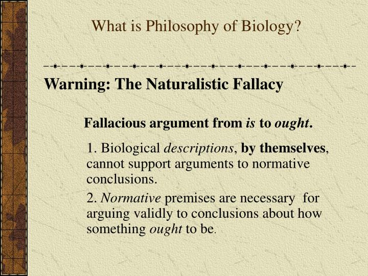 the naturalistic fallacy