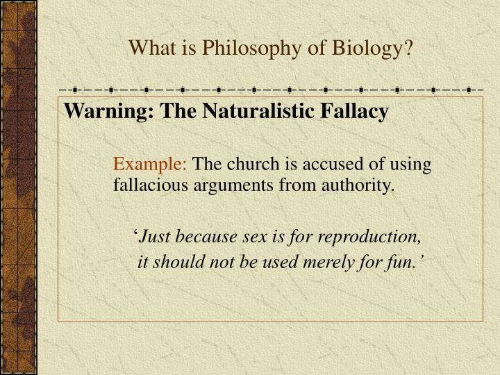 the naturalistic fallacy Evolutionary ethics is a good candidate for committing the naturalistic fallacy because it tries to define ethical terms in terms of naturalistic properties (boniolo 13, moore chapter 2, and schroeder.
