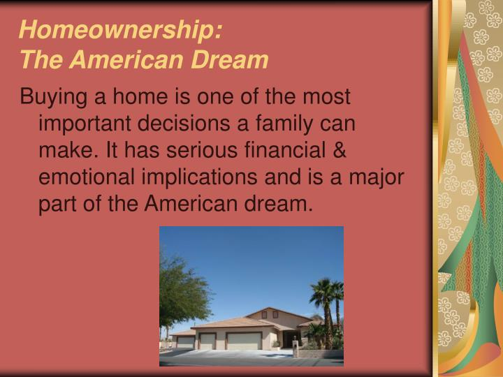 Homeownership: