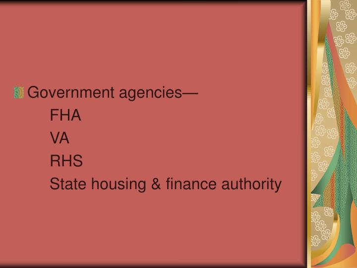 Government agencies—