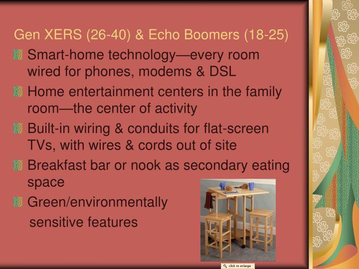 Gen XERS (26-40) & Echo Boomers (18-25)