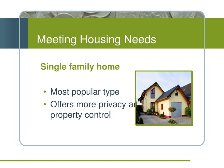 Meeting housing needs
