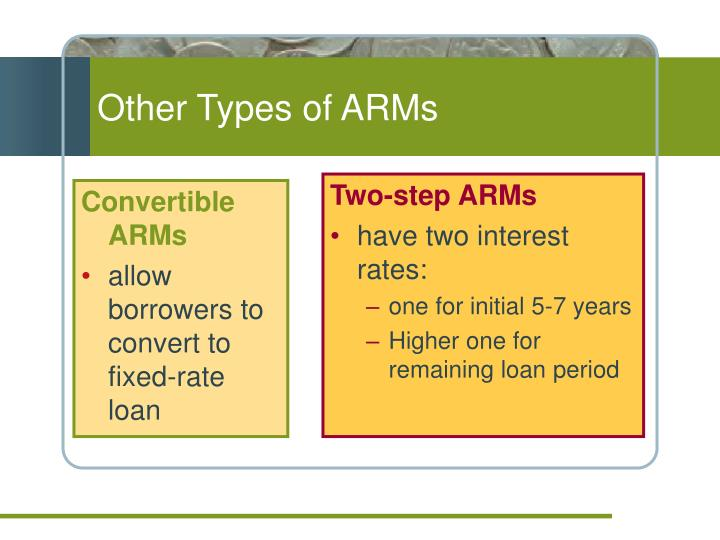 Other Types of ARMs