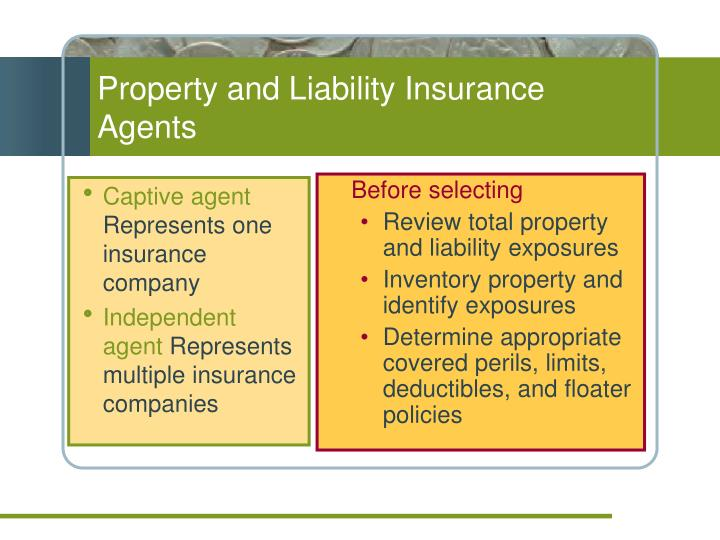 Property and Liability Insurance Agents