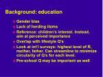 background education