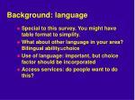 background language