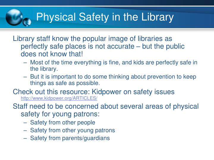 Physical Safety in the Library