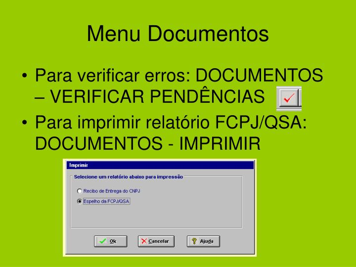 Menu Documentos