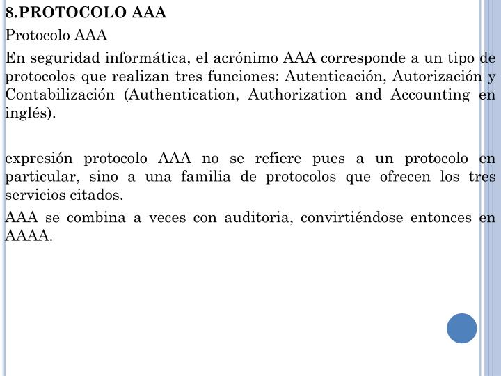 8.PROTOCOLO AAA
