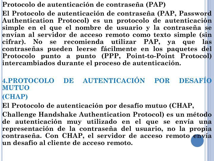 Protocolo de autenticación de contraseña (PAP)