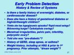 early problem detection2
