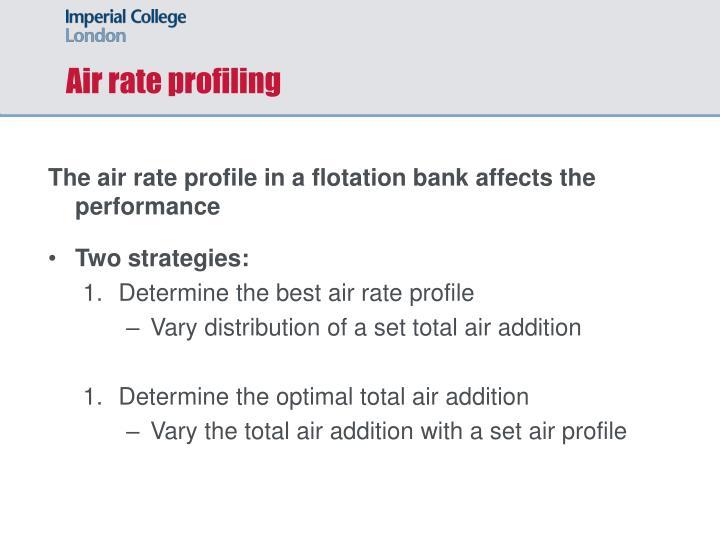 Air rate profiling