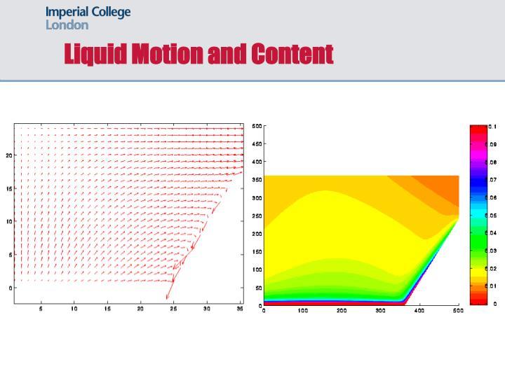 Liquid Motion and Content