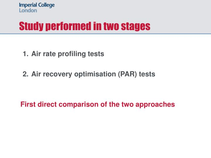Study performed in two stages