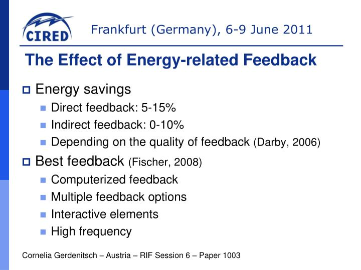 The Effect of Energy-related Feedback