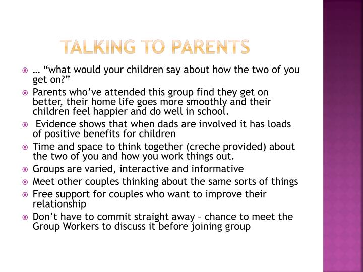 Talking to Parents