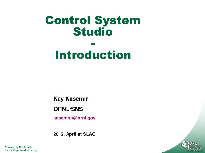 control system studio introduction n.