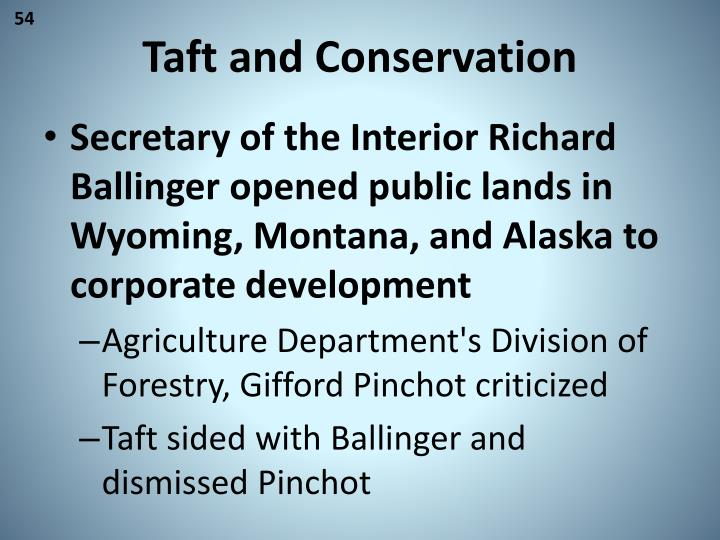 Taft and Conservation