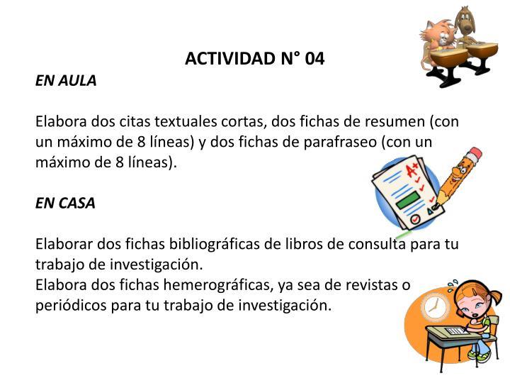 ACTIVIDAD N° 04