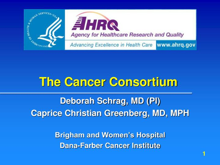 the cancer consortium n.