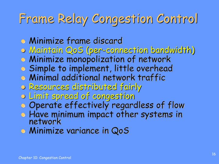 Frame Relay Congestion Control