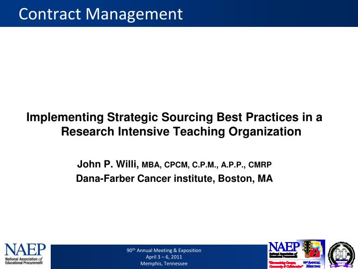 contract management n.