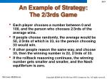 an example of strategy the 2 3rds game