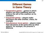 different games in game theory