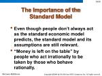 the importance of the standard model