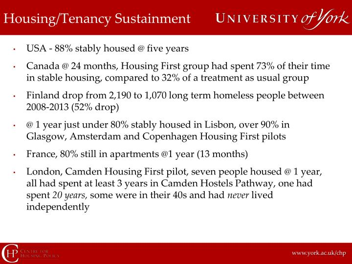 Housing/Tenancy Sustainment