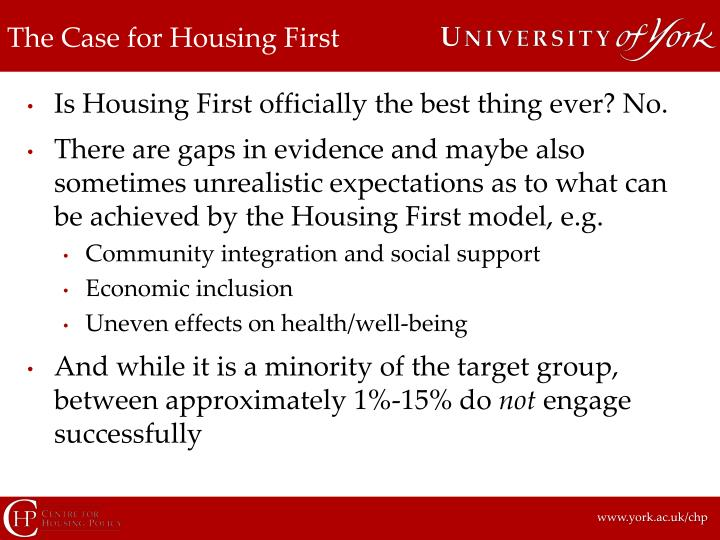 The Case for Housing First