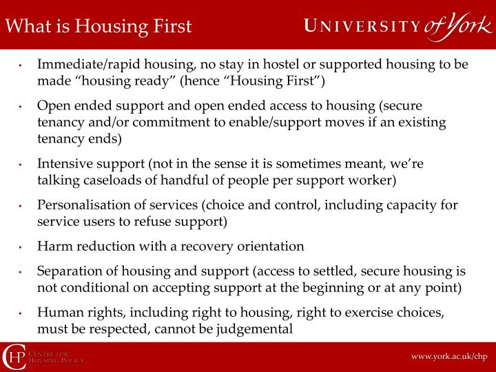 What is Housing First