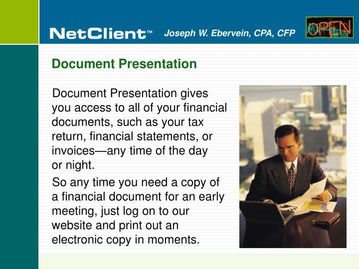 Document Presentation