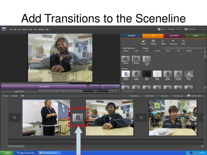 Add Transitions to the Sceneline