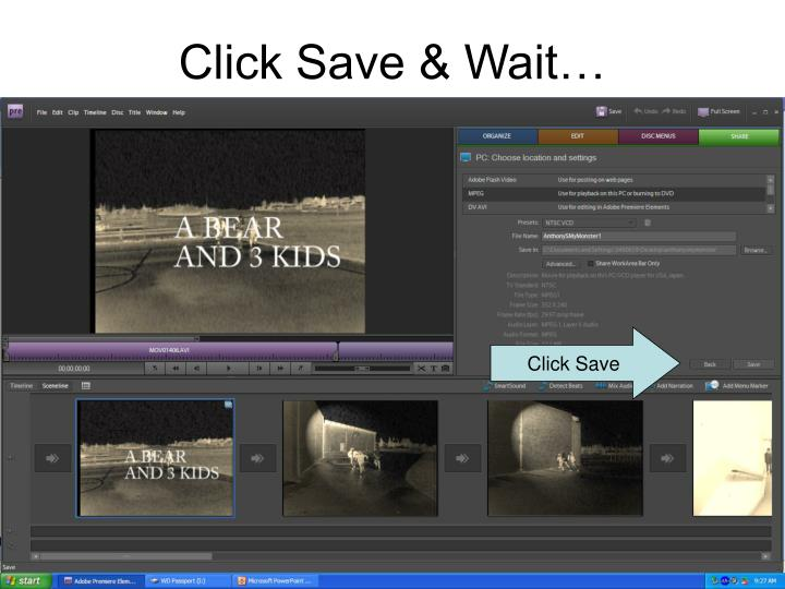Click Save & Wait…