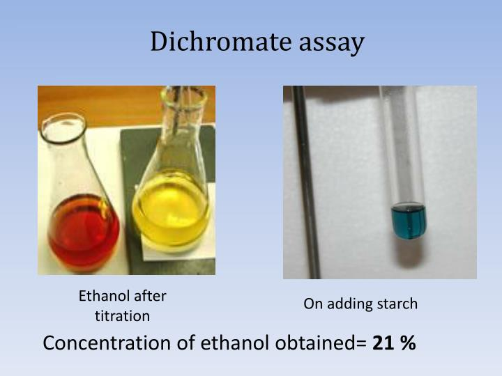 Dichromate assay