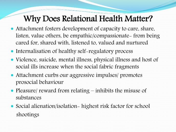 Why Does Relational Health Matter?