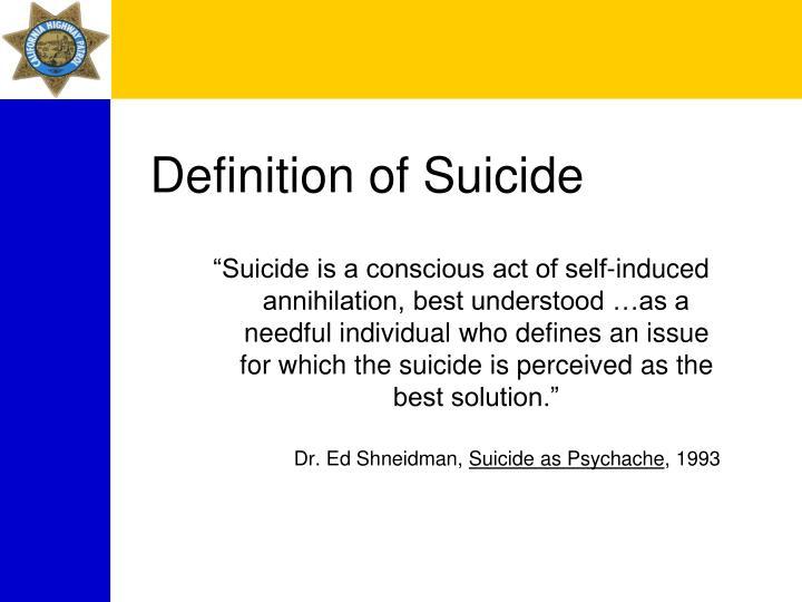 Definition of Suicide