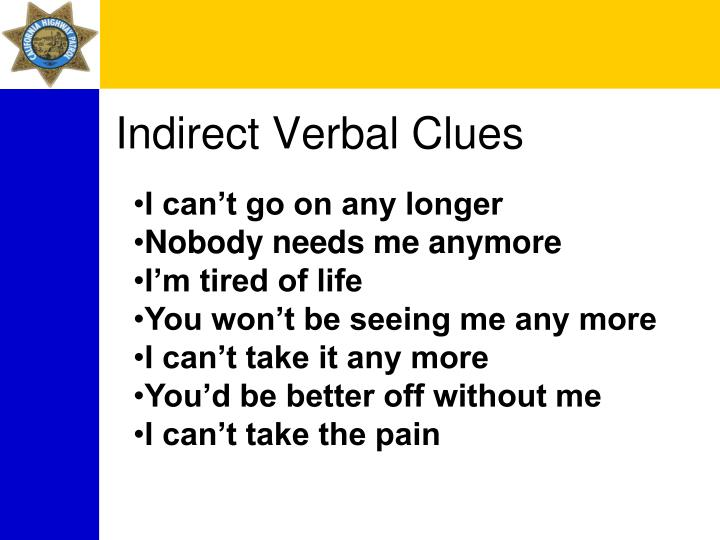 Indirect Verbal Clues