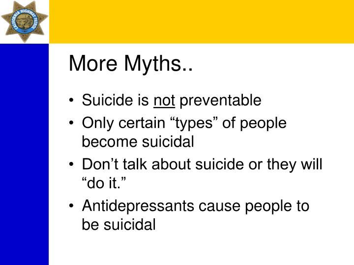 More Myths..