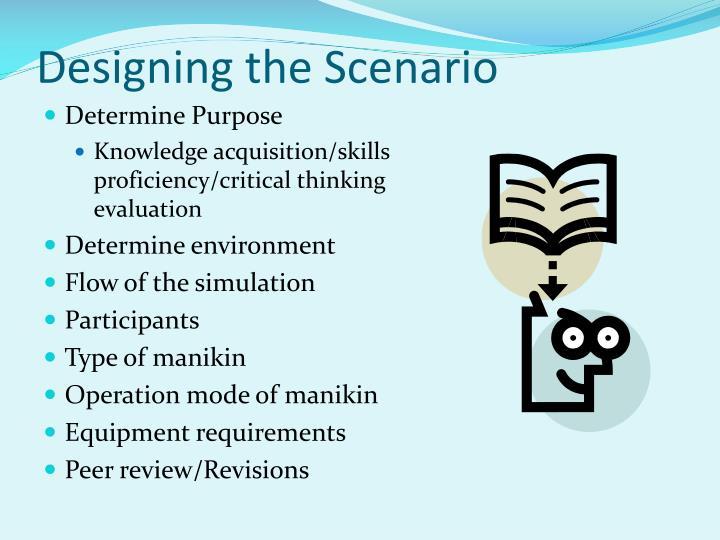 Designing the Scenario